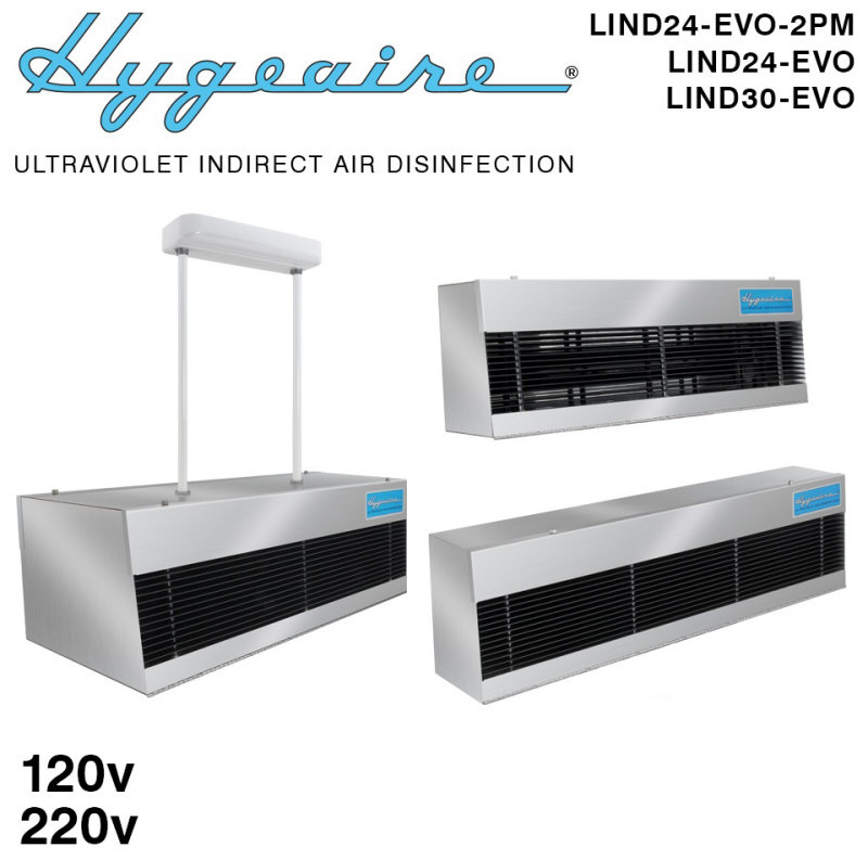 Hygeaire UV Indirect Air Sanitizers and UV Air Disinfection Systems