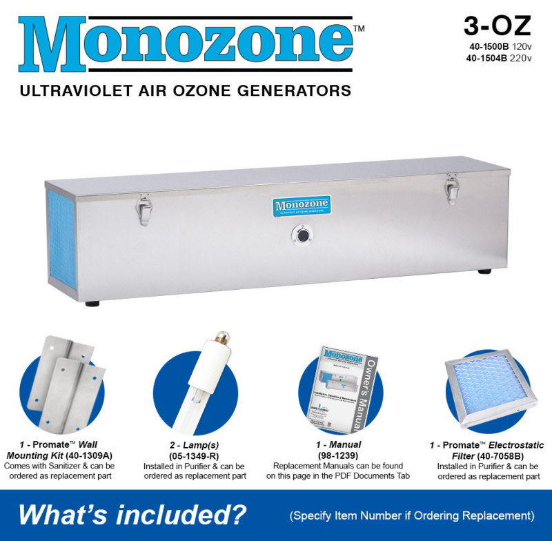 Atlantic UV 3-OZ Monozone Room Air Sanitizers