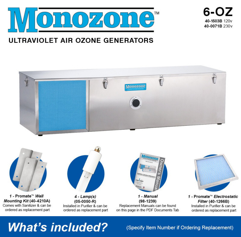 Atlantic UV 6-OZ Monozone Room Air Sanitizers