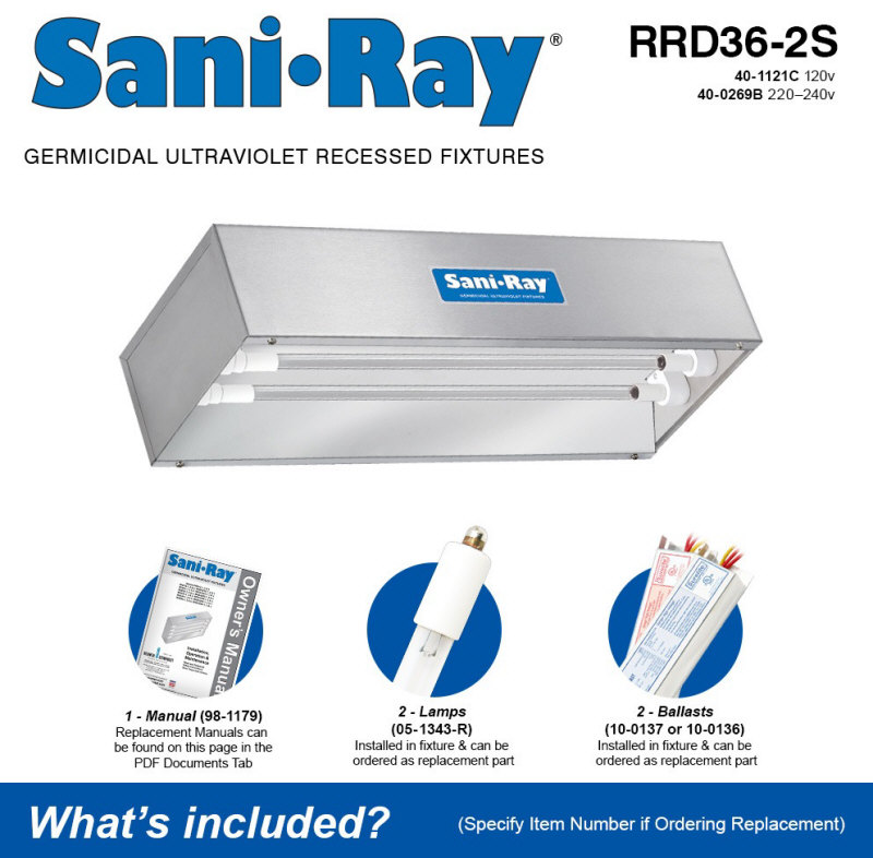 Atlantic UV RRD36-2S Sani Ray UV Air and Surface Disinfection Unit