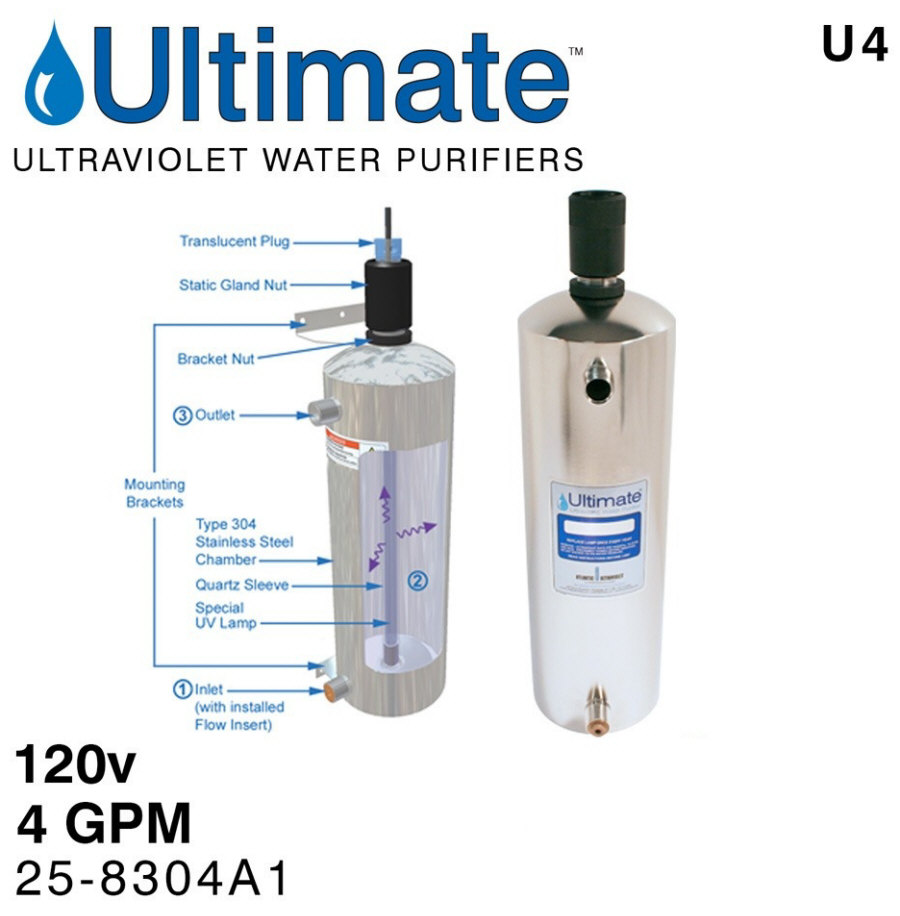 Ultimate U4 UV water purifier system
