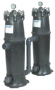 Big Bubba BH-150 whole house water filters shown in a series installation