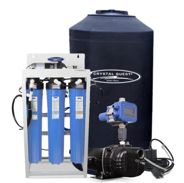 CQ Whole House 200 Gallon Per Day Reverse Osmosis System with 165 Gallon Storage Tank
