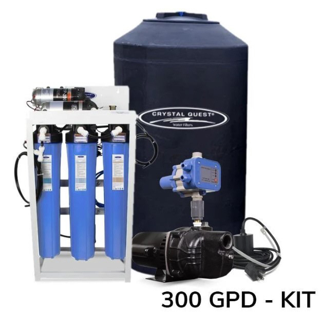 CQ Whole House 300 Gallon Per Day Whole House Reverse Osmosis System with OPTIONAL 165 Gallon Storage Tank