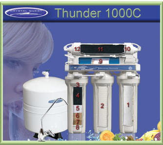 Crystal Quest RO 1000C Thunder Reverse Osmosis water filter system