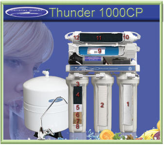 Crystal Quest THUNDER 1000CP Reverse Osmosis Water Filter System with Pressure Pump