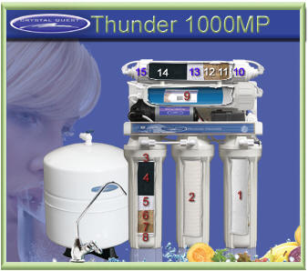 CRYSTAL QUEST Thunder 1000MP Reverse Osmosis / Ultrafiltration with Pressure pump