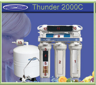 Crystal Quest RO 2000C Thunder Reverse Osmosis water filter system