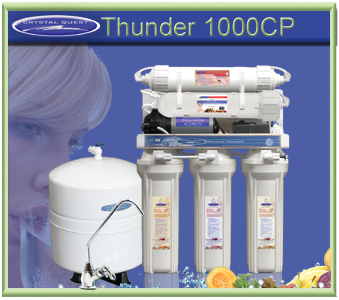 CRYSTAL QUEST Thunder 1000CP Reverse Osmosis/Ultrafiltration with Pressure pump