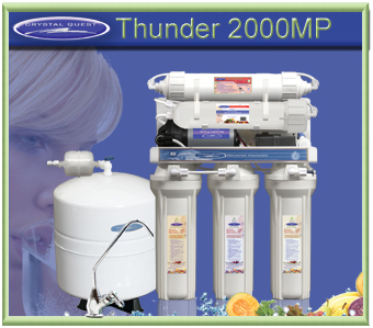 CRYSTAL QUEST Thunder 2000MP Reverse Osmosis / Ultrafiltration with Pressure pump