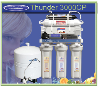 CRYSTAL QUEST Thunder 3000CP Reverse Osmosis / Ultrafiltration with Pressure pump
