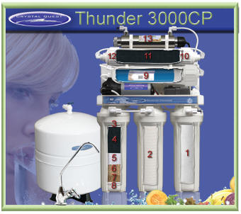 Crystal Quest Thunder 3000CP RO water filter system with UV Water Sanitizer