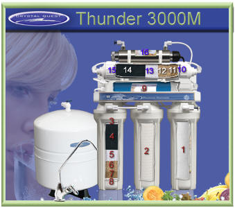 CQ Thunder 3000M 16 stage RO water filter with UV Sanitizer