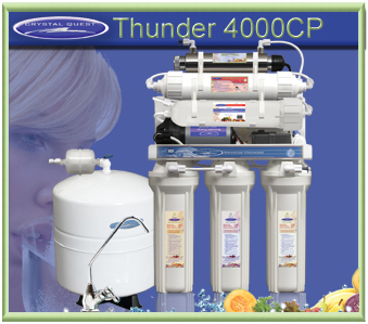 CRYSTAL QUEST Thunder 4000CP Reverse Osmosis/Ultrafiltration with Pressure pump