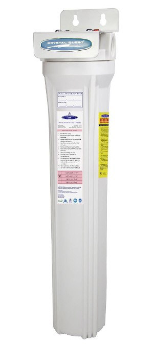 Whole House Iron Water Filter - 20x3 Inch Single Cartridge Slimline Iron Water Filter