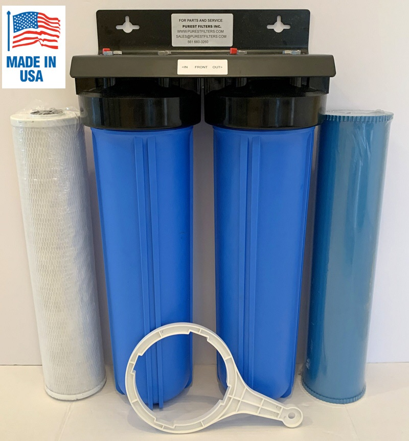 Purest Filters Dual 20x5 BIG BLUE Whole House water filtering system