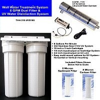 Purest Filters 6 Gallon Per Minute Well Water Filter and UV Disinfection Unit