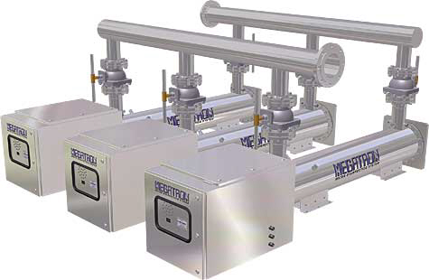 Megatron high capacity UV water sanitizers and UV water treatment systems