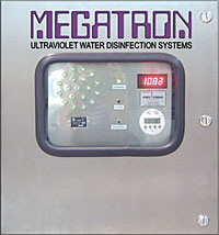 MEGATRON Ultraviolet Water Disinfection Systems monitoring system for UV water purification