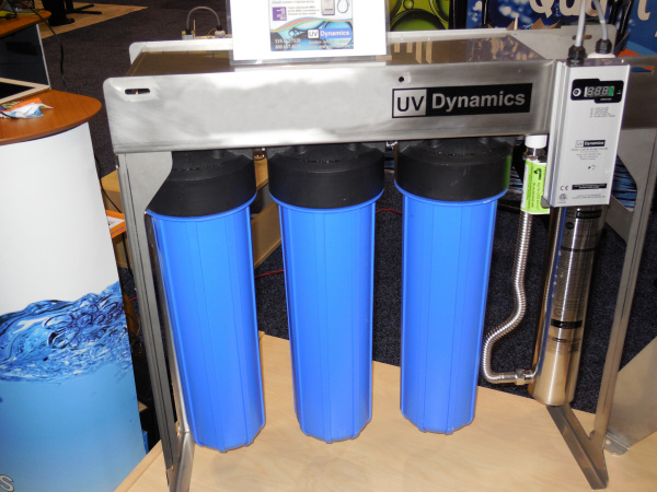 UV Dynamics Mini Rack Triple Water Filter Cartridge with Ultraviolet Water Sanitizer - Whole House Water Treatment System