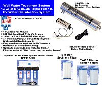 13 Gallon Per Minute Well Water Filters and UV Disinfection Unit